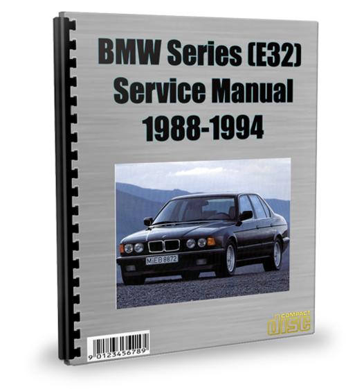 bmw 7 series e32 1988 1994 service repair manual. Black Bedroom Furniture Sets. Home Design Ideas